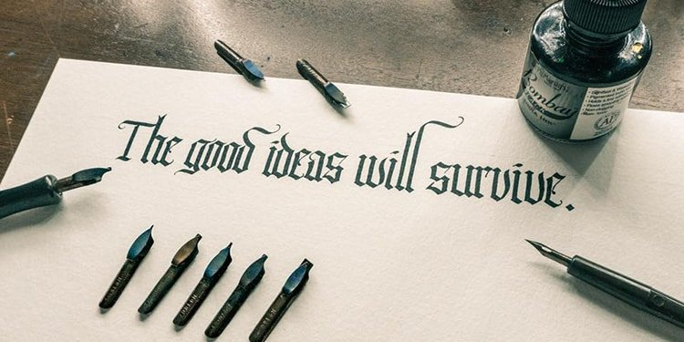 Blackletter calligraphy - lettering daily