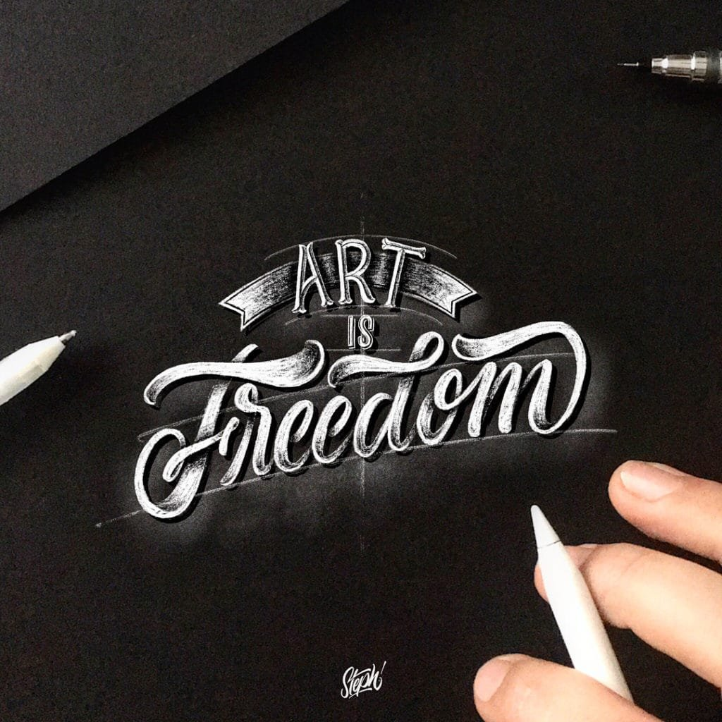 What are the types of lettering? - Lettering Daily