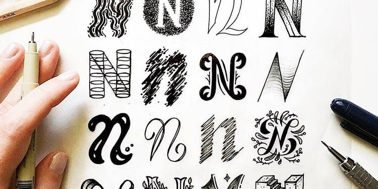 What are the lettering styles - lettering daily