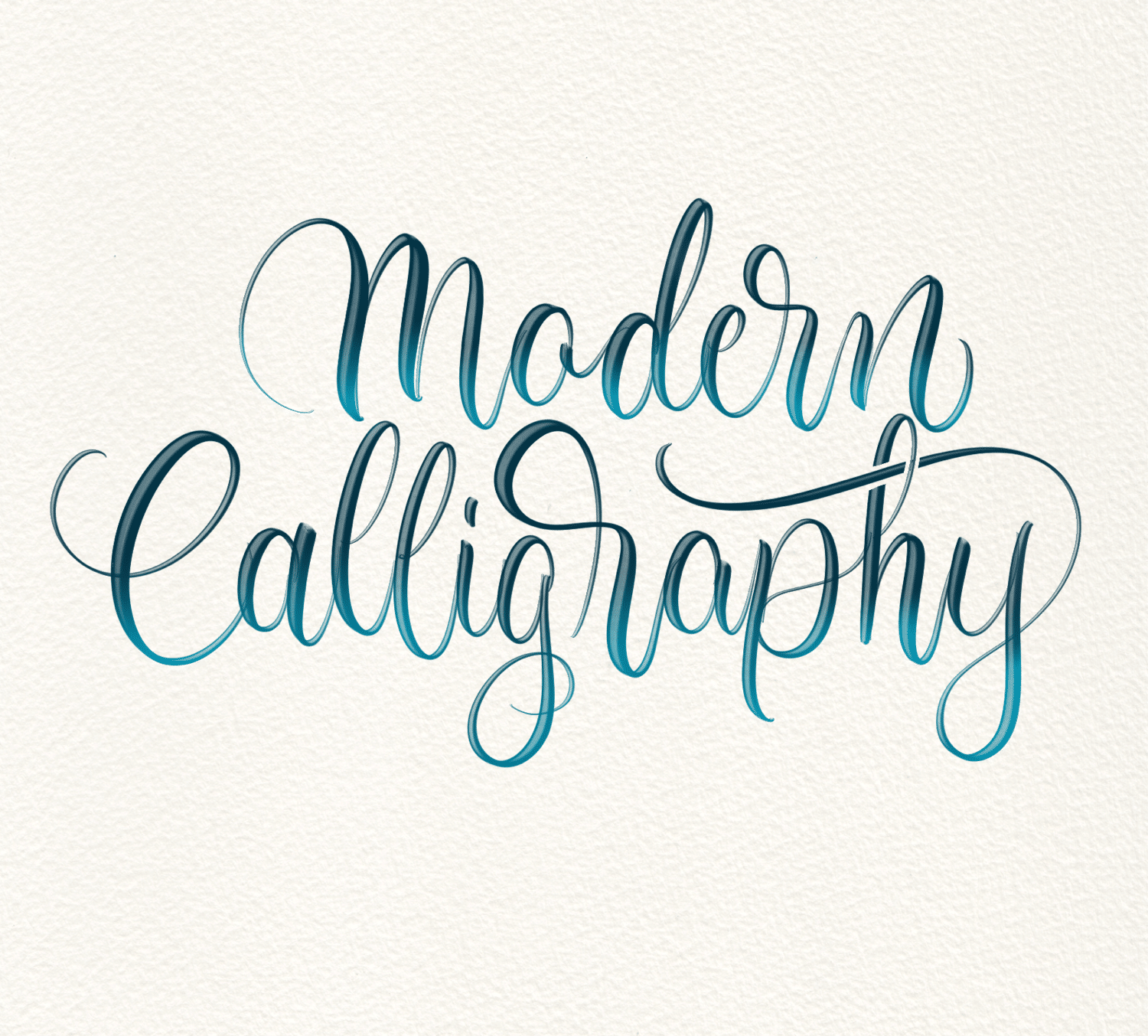 What is modern calligraphy? Lettering Daily