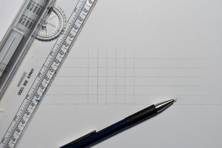 Grid for the letters