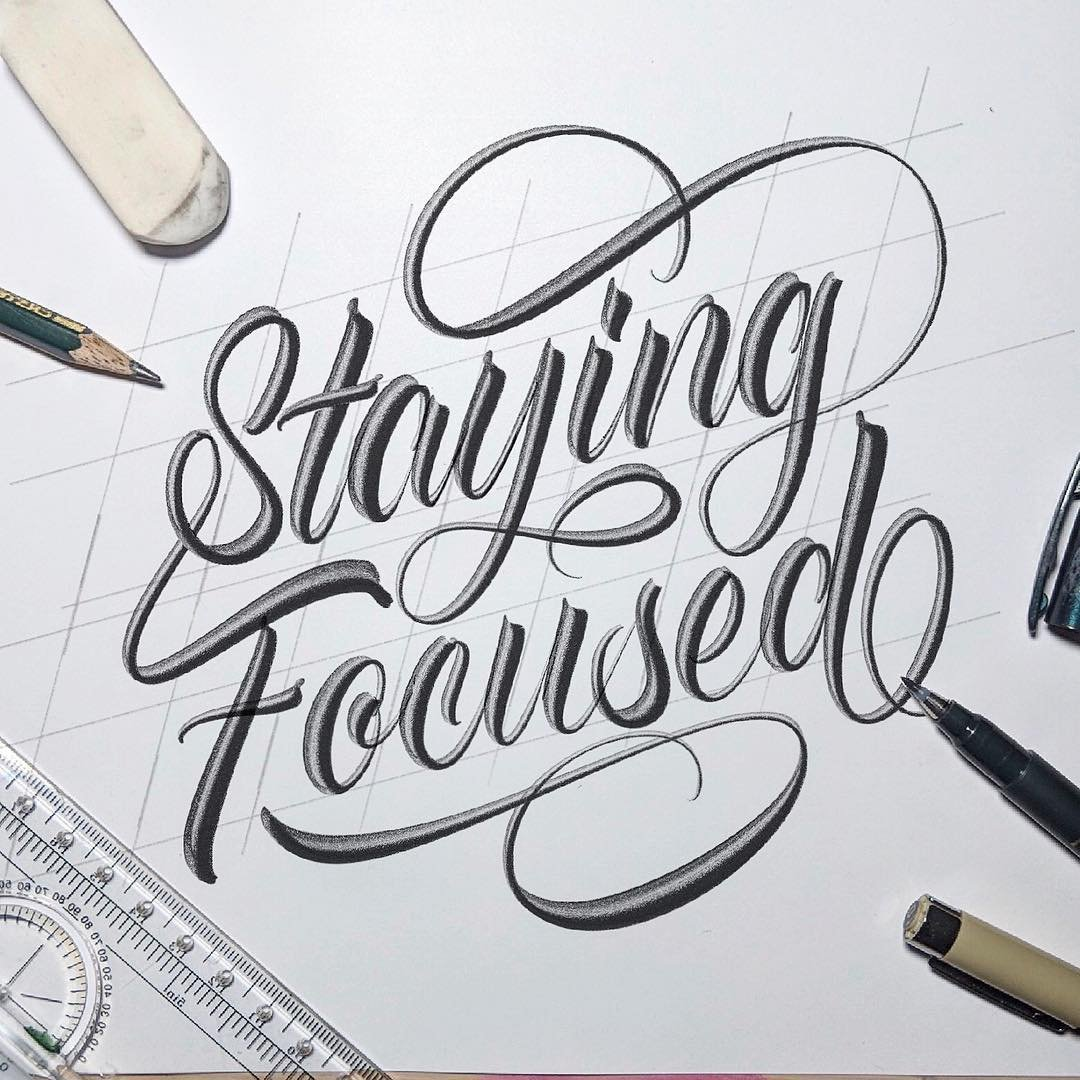 Modern calligraphy example 2 - Lettering Daily
