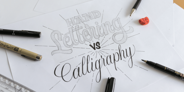 WHAT IS THE DIFFERENCE BETWEEN HAND LETTERING AND CALLIGRAPHY