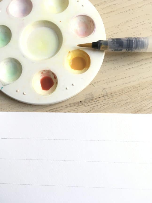 HOW TO DO water brush lettering - Lettering Daily