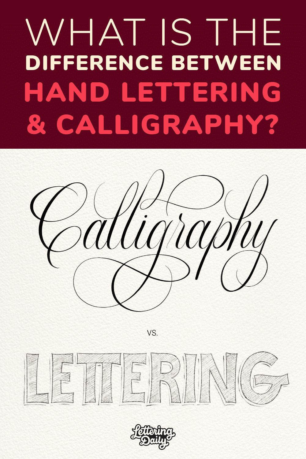 What is the difference between hand lettering and calligraphy - Lettering Daily