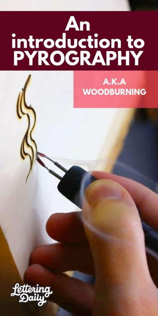 an intro. to pyrography - lettering daily