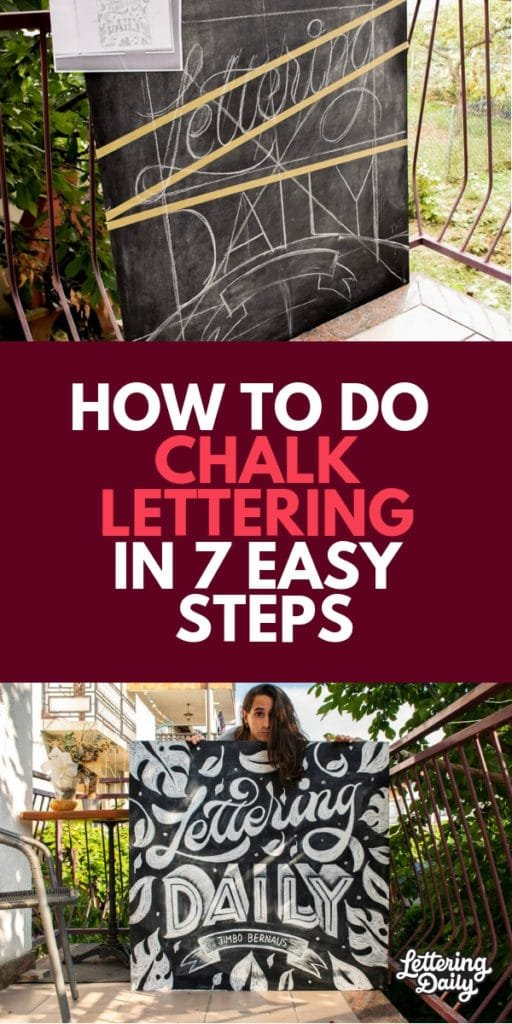 how to do chalk lettering in 7 easy steps - lettering daily
