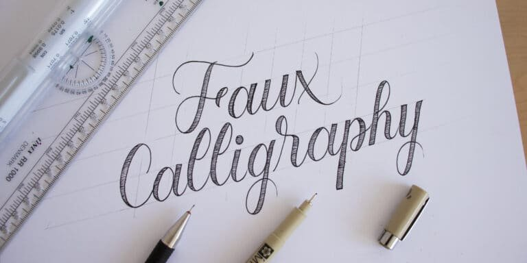 HOW TO DO FAUX CALLIGRAPHY FOR BEGINNERS