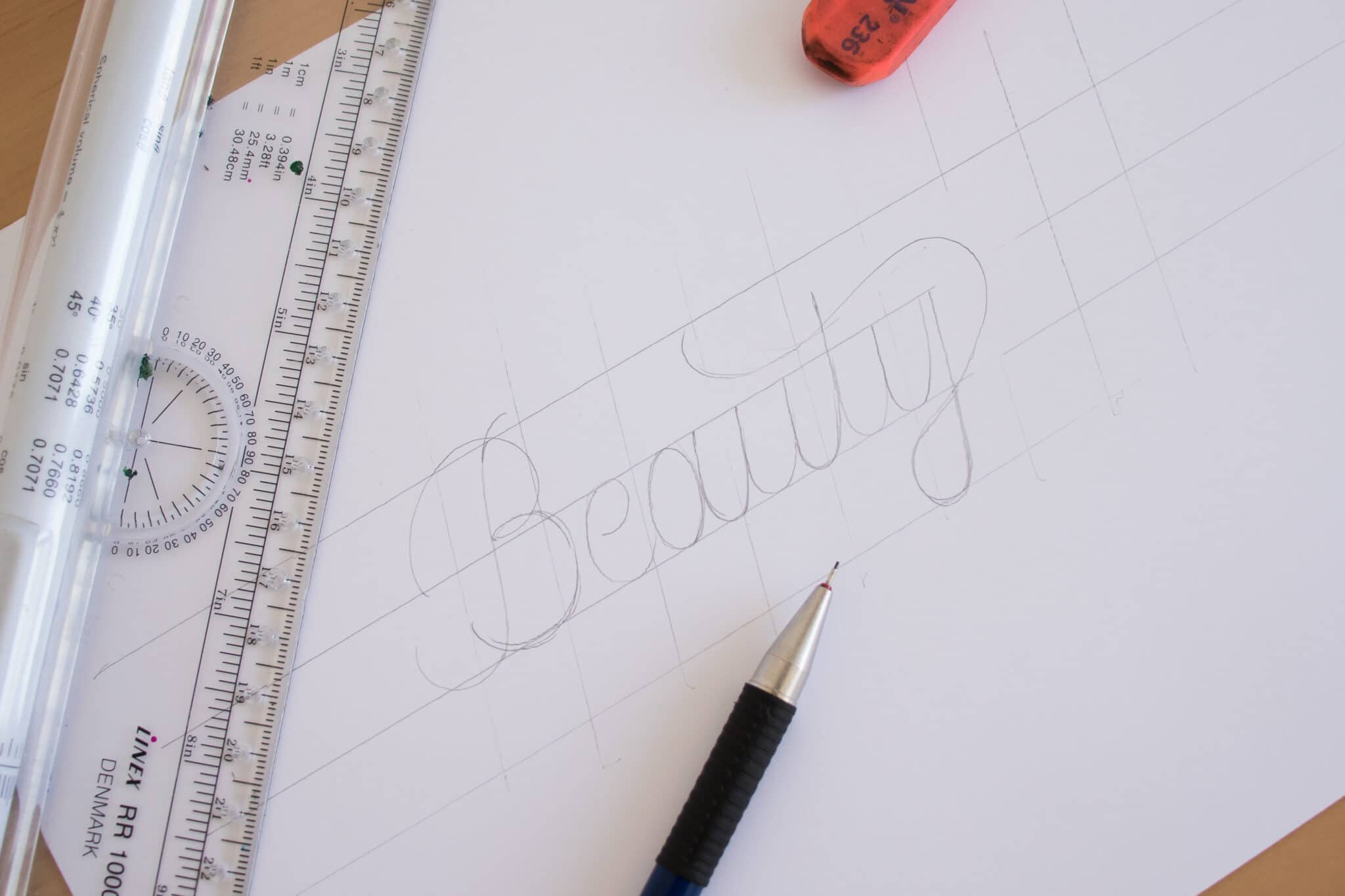 Faux Calligraphy for beginners tutorial - Lettering Daily