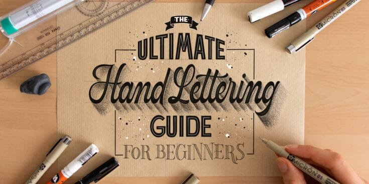 Ultimate hand lettering guide