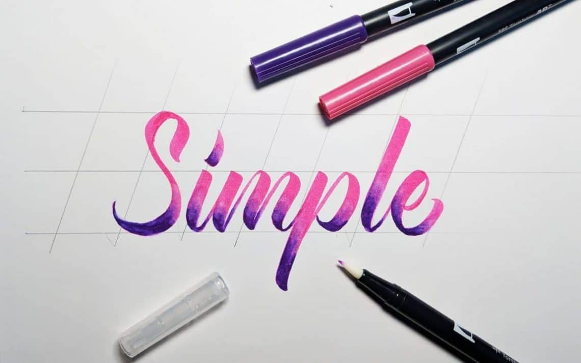 5 ways you can add a gradient effect to your lettering - Lettering Daily