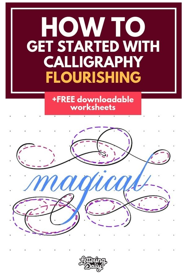 How to get started with calligraphy flourishing - Lettering Daily