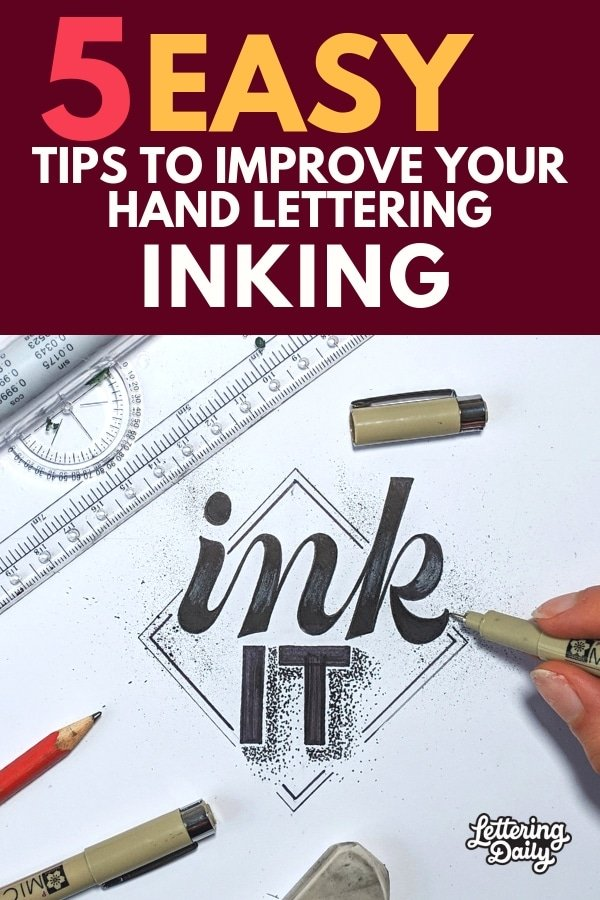 inking hand lettering