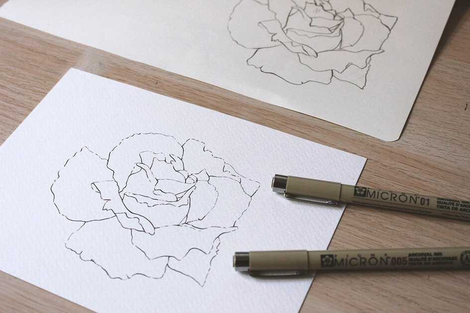 How to create watercolor flowers - Lettering Daily