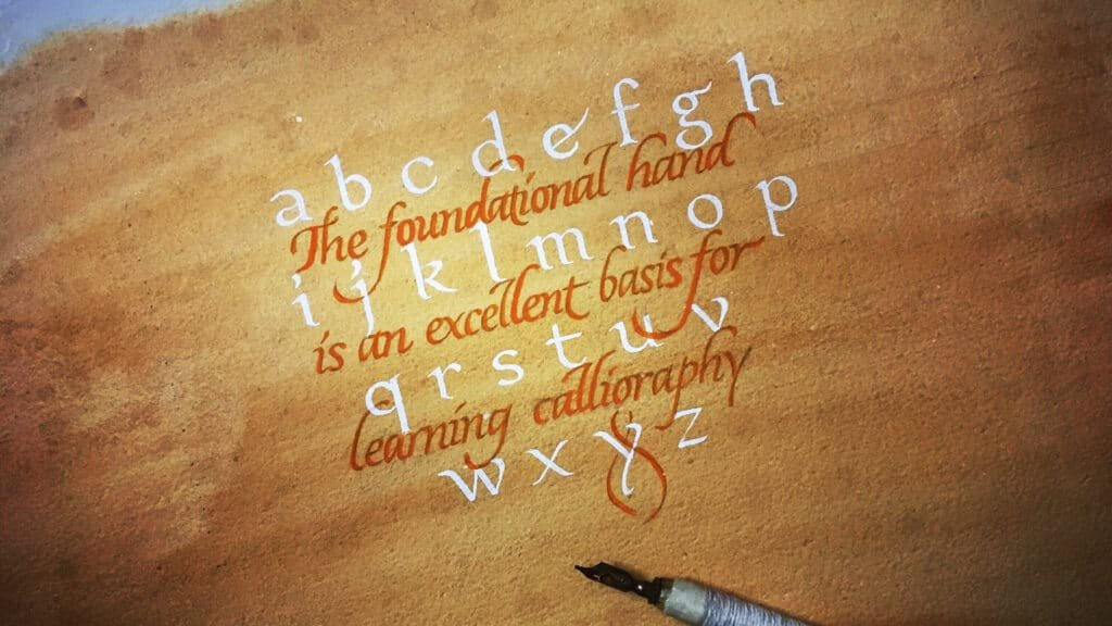 cover for foundational calligraphy tutorial