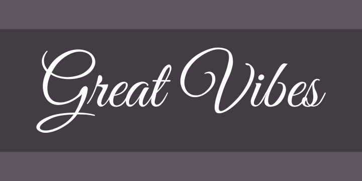 Great Vibes Font Cover