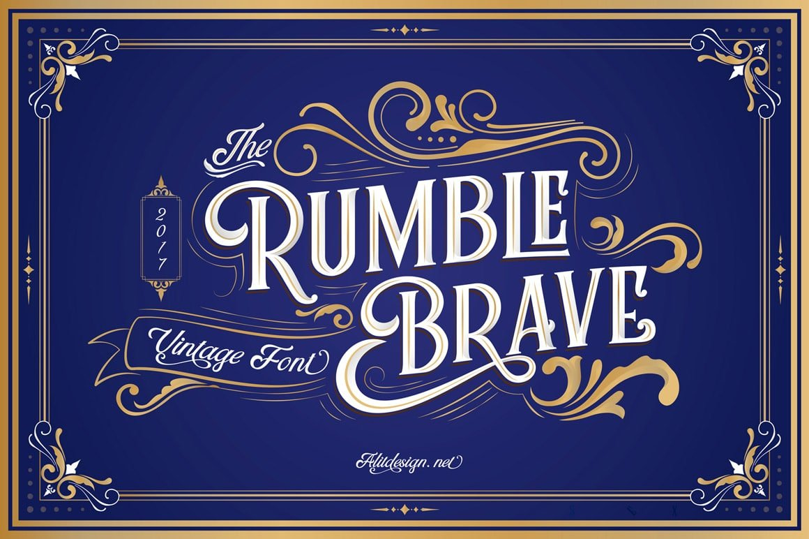 Rumble-Brave-calligraphy font