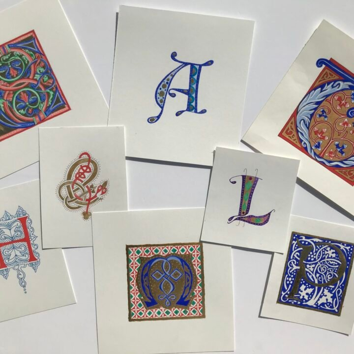How to draw illuminated letters - Lettering Daily