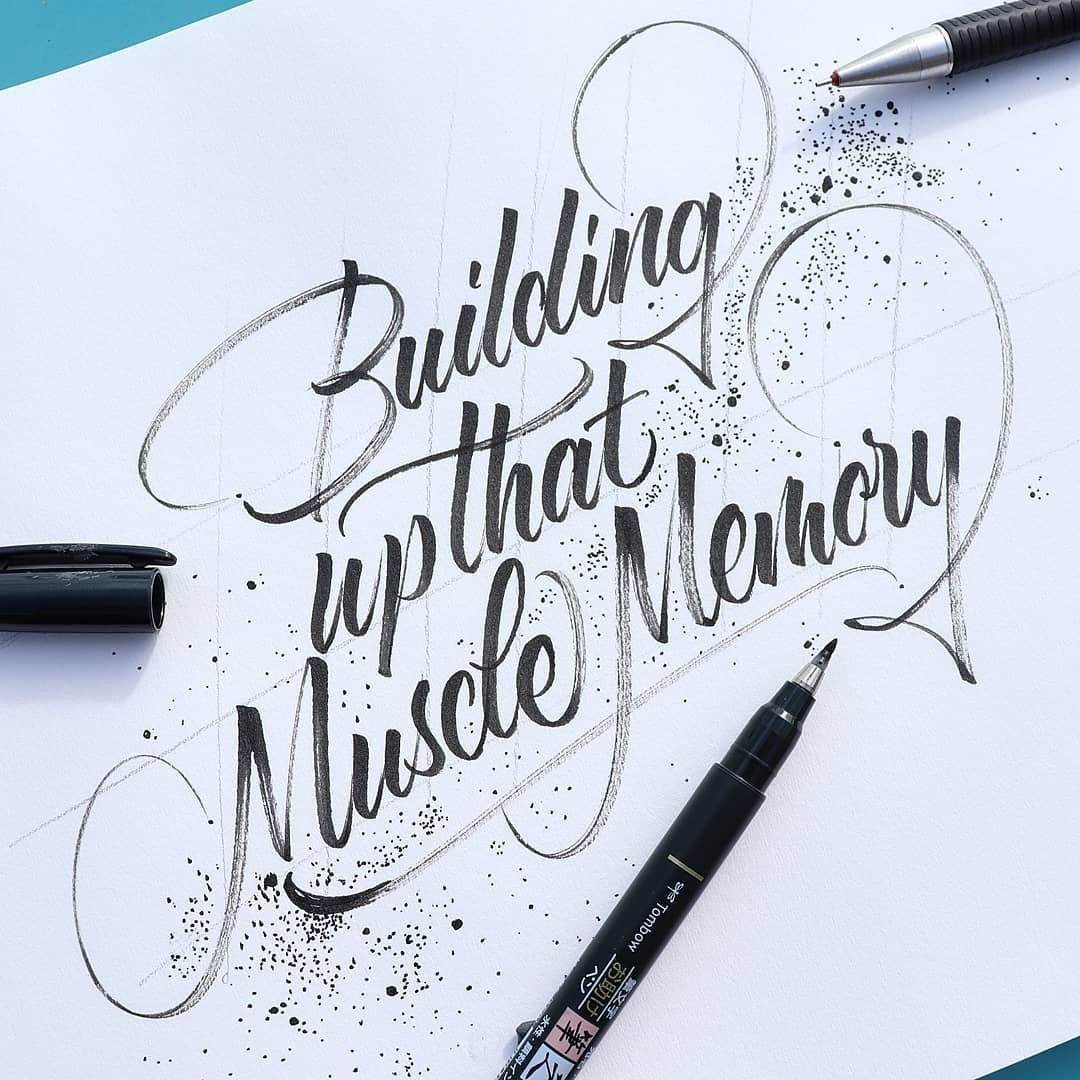 Brush lettering example - ''After''