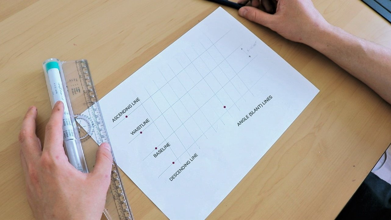 How to draw guidelines for your brush calligraphy