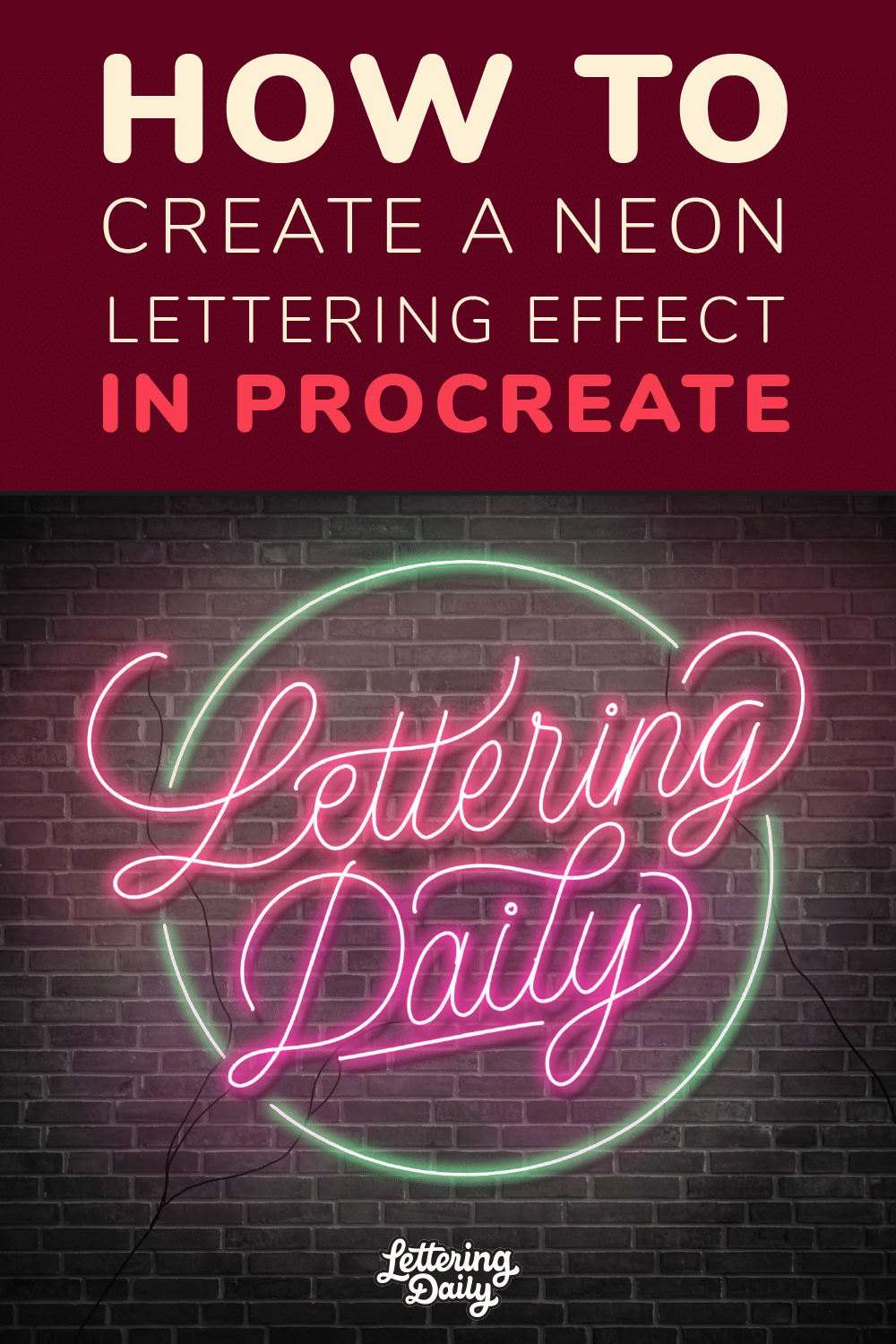 How To Create Neon Lettering In Procreate - Lettering Daily