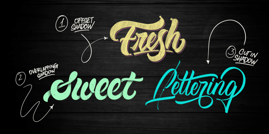 Lettering Shadow