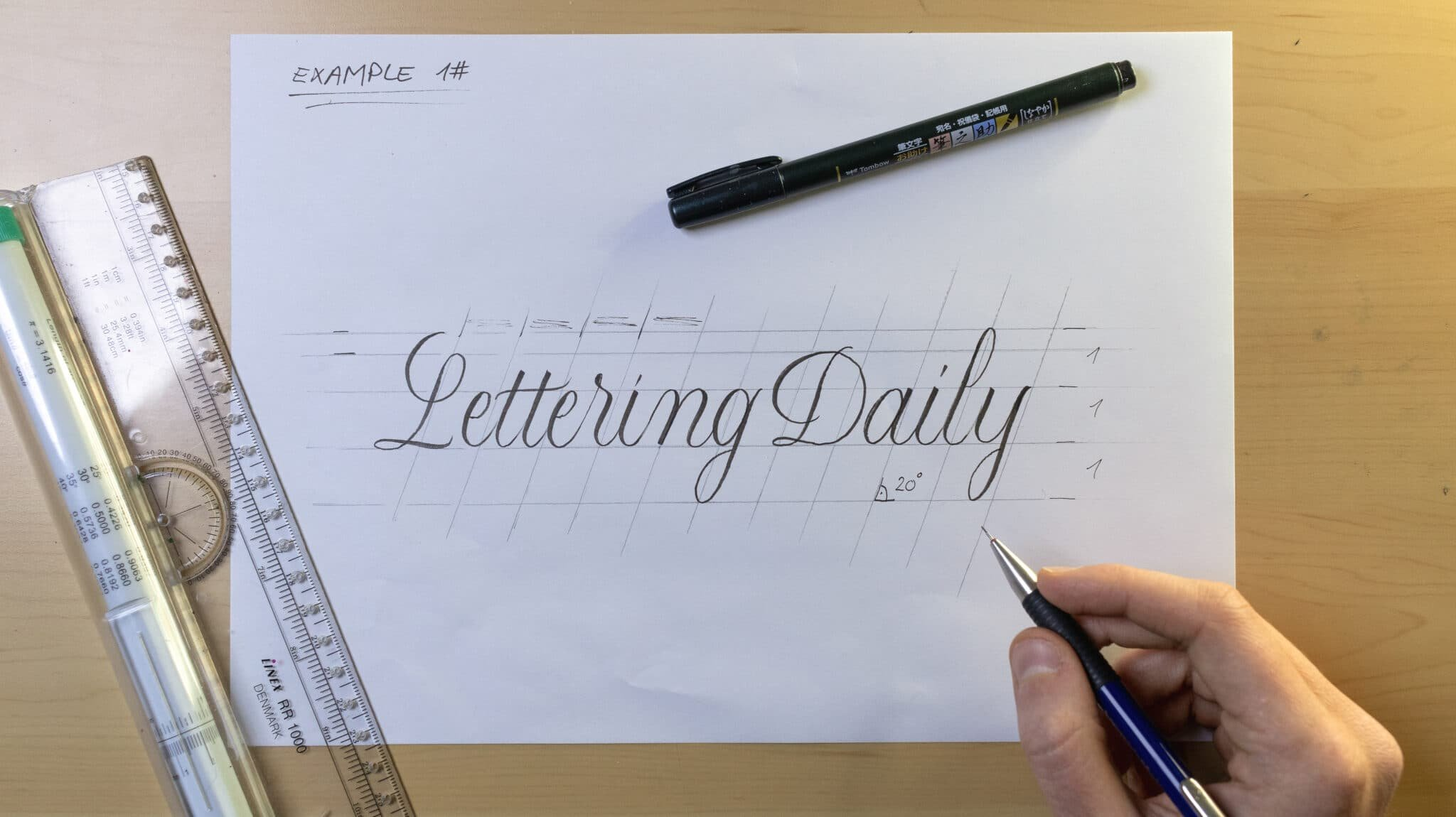 How To Make Calligraphy Guidelines Image 11 - Lettering Daily