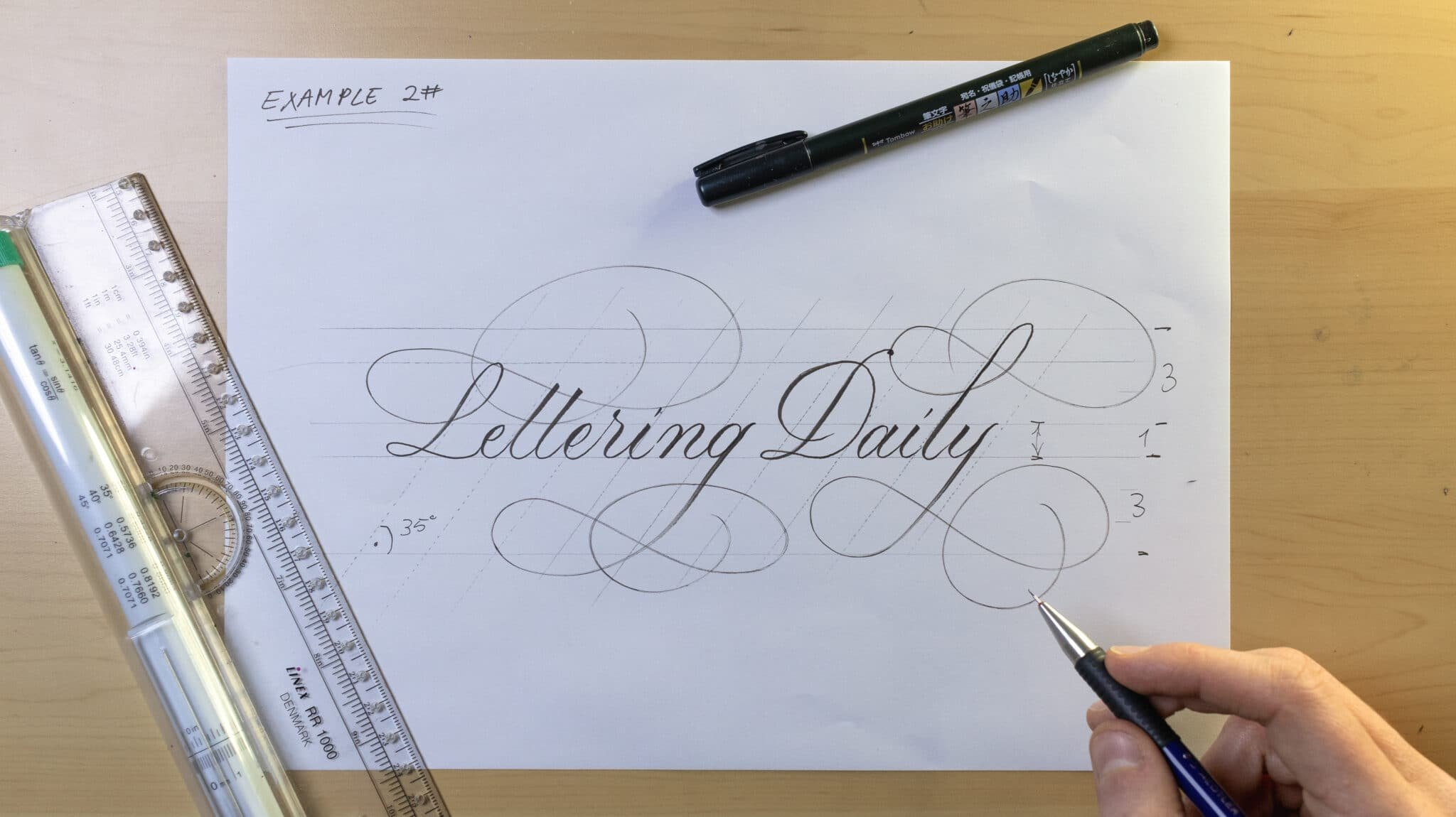 How To Make Calligraphy Guidelines Image 10 - Lettering Daily