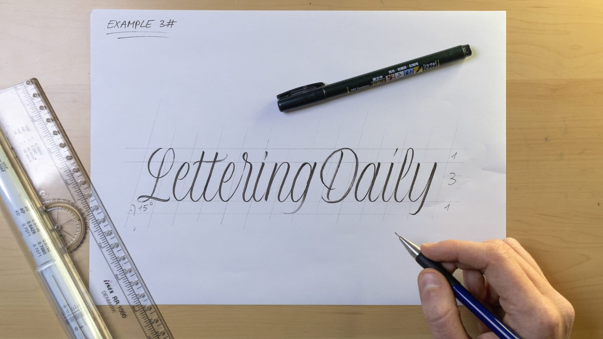 How To Make Calligraphy Guidelines Image 9 - Lettering Daily