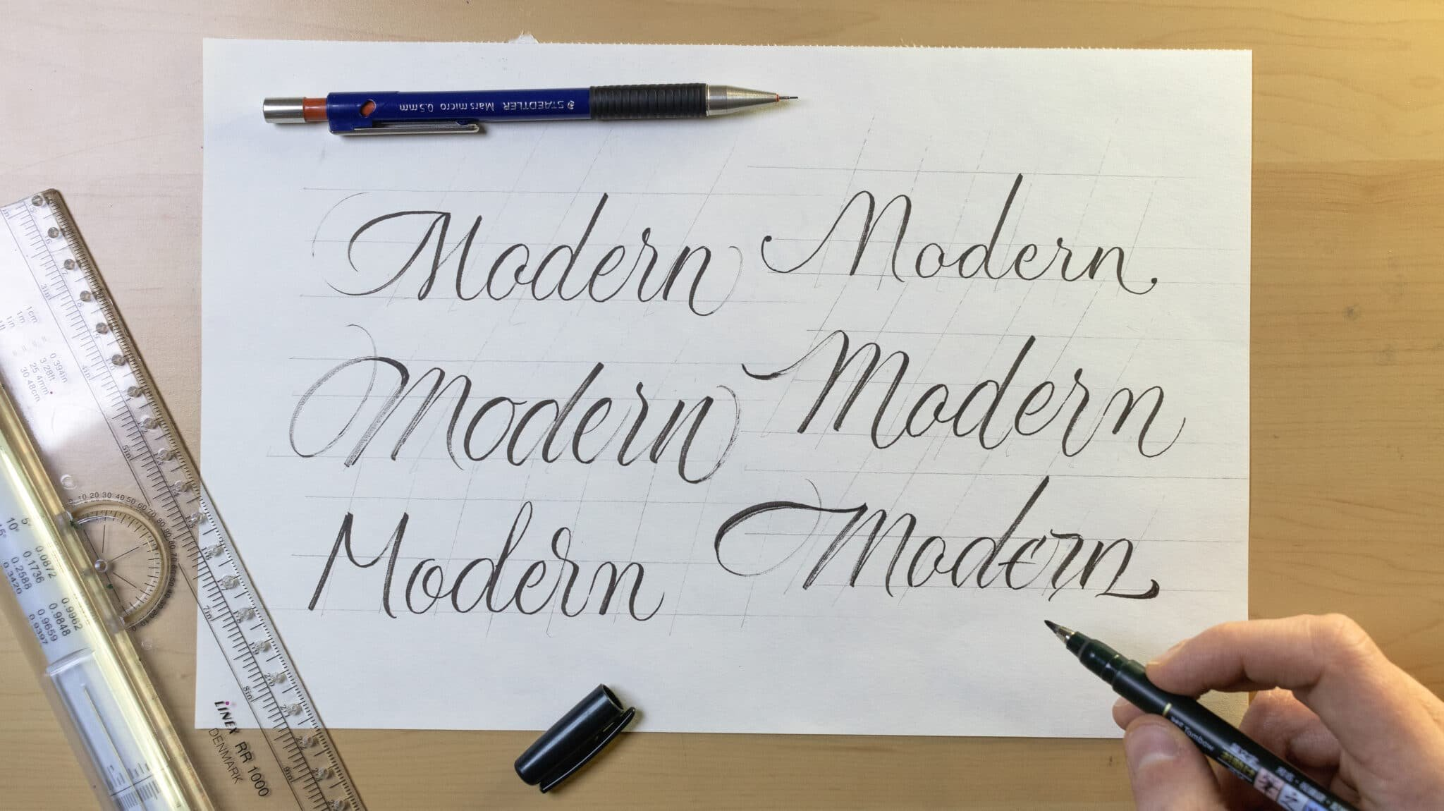 How To Make Calligraphy Guidelines Image 8 - Lettering Daily