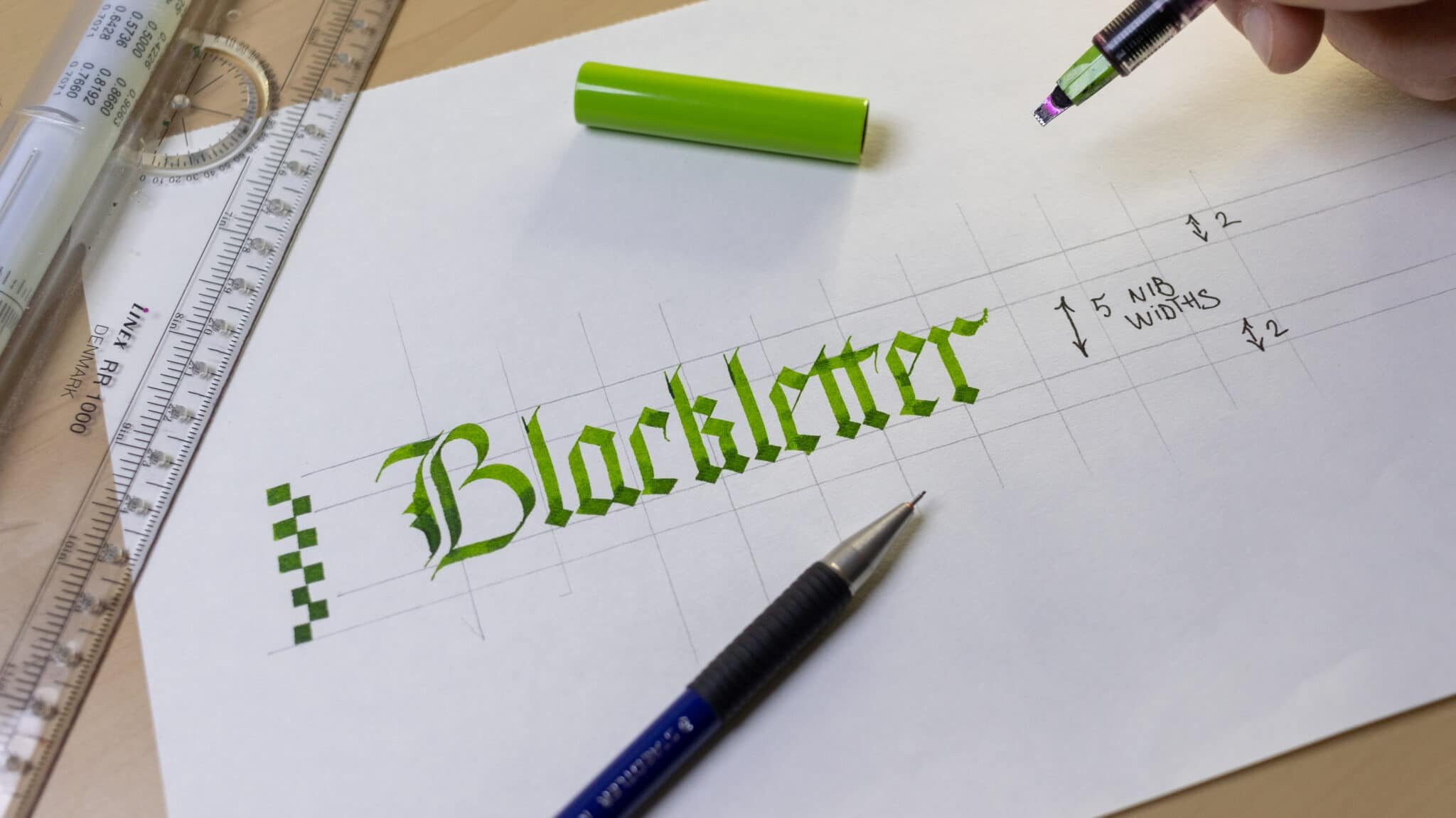 How To Make Calligraphy Guidelines Image 14 - Lettering Daily