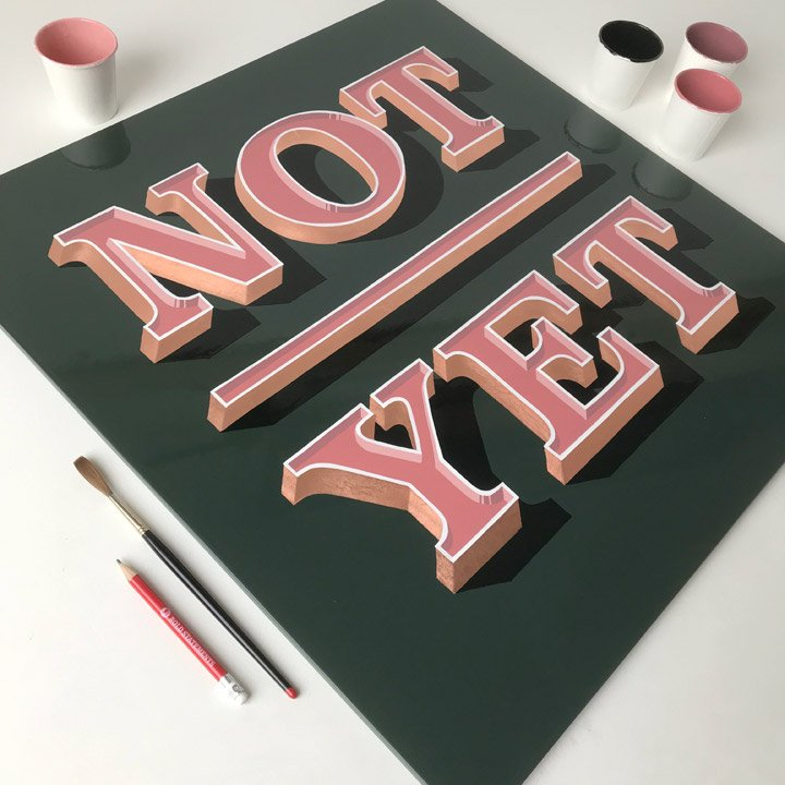 Sign Painting 3D Letters
