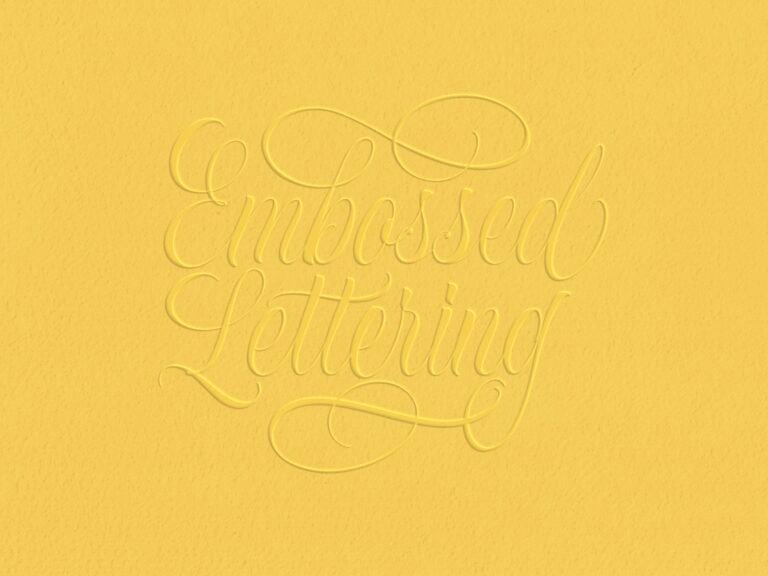 How To Easily Create An Embossed Effect In Procreate