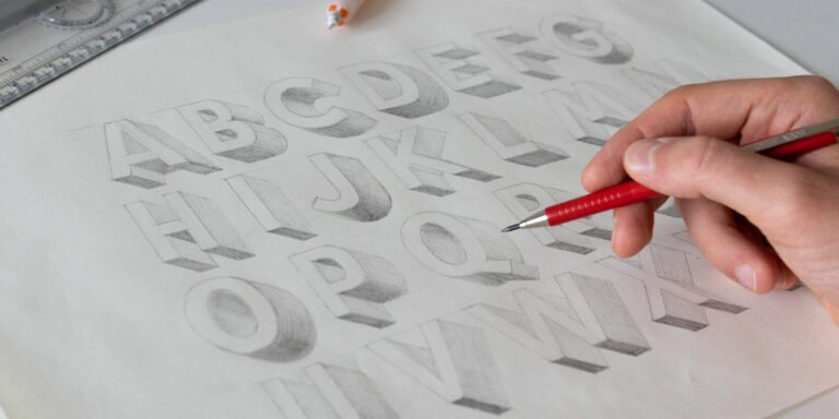 HOW TO DRAW 3D LETTERS (+FREE WORKSHEET)